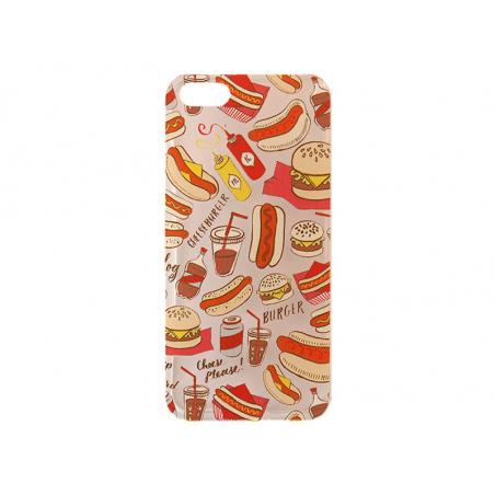 Acheter Coque Iphone 5 / iphone 5s / iphone 5SE - burger, frites et hot dog - 9,90€ en ligne sur La Petite Epicerie - 100% L...