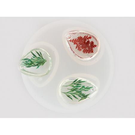 Acheter Moule en silicone - 3 pendentifs gouttes 2,8 cm - 4,79€ en ligne sur La Petite Epicerie - Loisirs créatifs