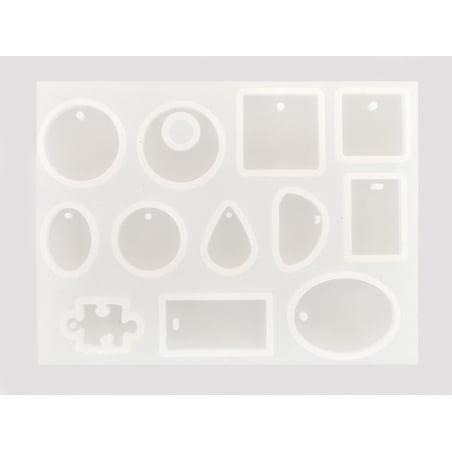 Acheter Planche de 12 moules en silicone - 7,99€ en ligne sur La Petite Epicerie - Loisirs créatifs