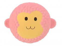 Squishy tête de singe rose
