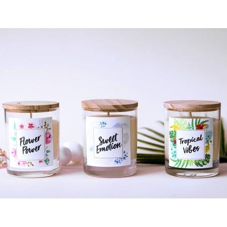Acheter Kit bougie DIY - Flower Power - 22,99€ en ligne sur La Petite Epicerie - Loisirs créatifs