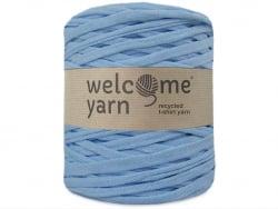 Acheter Grande bobine de fil trapilho - bleu moyen avec petits chevrons blancs - 7,90€ en ligne sur La Petite Epicerie - 100...