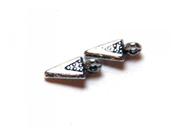 1 triangle charm with dots - silver-coloured
