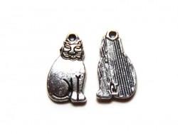 1 Katzenanhänger (ägyptische Katze) - silberfarben