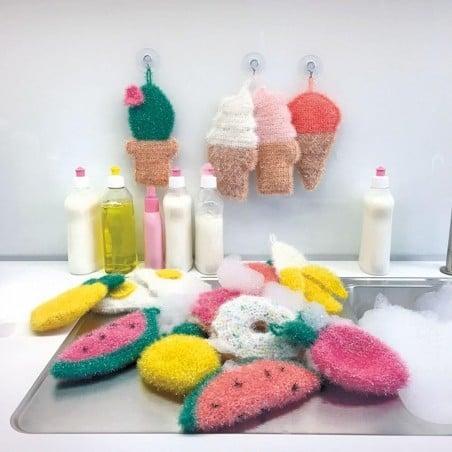 Acheter Laine à tricoter Creative bubble - orange fluo - pour éponge tawashi - 3,49€ en ligne sur La Petite Epicerie - Loisi...
