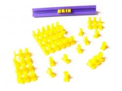 Set mit 72 Buchstaben und Zahlen zum Stempeln