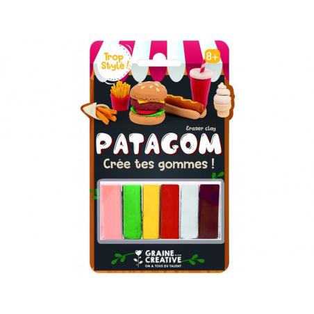 Acheter Patagom - blister de 6 pains Junk food - 6,89€ en ligne sur La Petite Epicerie - Loisirs créatifs