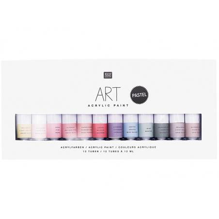 Acheter Set de 12 tubes de peinture acrylique - pastel - 8,99€ en ligne sur La Petite Epicerie - 100% Loisirs créatifs