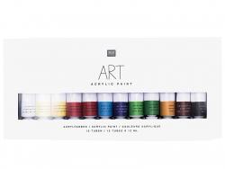 Acheter Set de 12 tubes de peinture acrylique - 8,99€ en ligne sur La Petite Epicerie - Loisirs créatifs