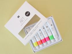 Acheter Set de 6 tubes de peinture acrylique - néon - 6,49€ en ligne sur La Petite Epicerie - Loisirs créatifs