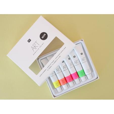 Acheter Set de 6 tubes de peinture acrylique - néon - 6,49€ en ligne sur La Petite Epicerie - 100% Loisirs créatifs