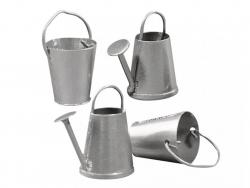 Acheter Lot de 2 seaux et arrosoirs en métal - miniature - 3,49€ en ligne sur La Petite Epicerie - Loisirs créatifs