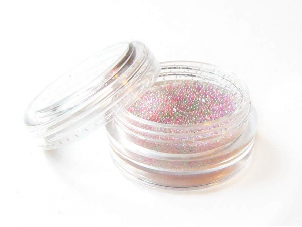 Multicoloured, pastel-coloured, translucent microbeads
