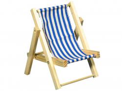 Acheter Chaise longue en bois bleue - miniature - 14 cm - 4,99€ en ligne sur La Petite Epicerie - 100% Loisirs créatifs