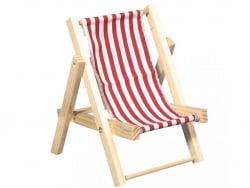 Acheter Chaise longue en bois rouge - miniature - 14 cm - 4,99€ en ligne sur La Petite Epicerie - Loisirs créatifs