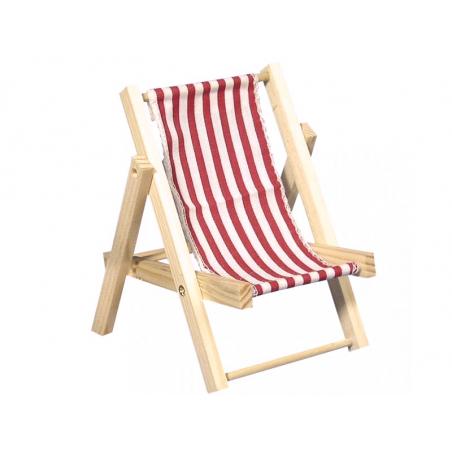 Acheter Chaise longue en bois rouge - miniature - 14 cm - 4,99€ en ligne sur La Petite Epicerie - 100% Loisirs créatifs