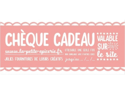 Acheter Cheque Cadeau 7€ - 7,00€ en ligne sur La Petite Epicerie - 100% Loisirs créatifs