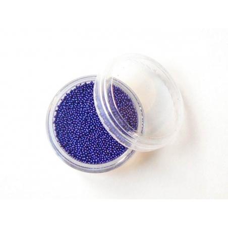 Night blue, translucent microbeads