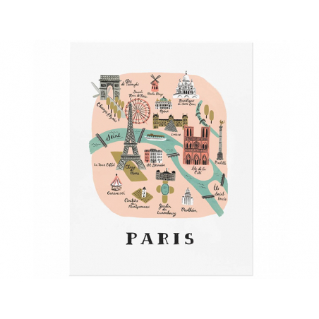 Acheter Affiche 20 x 25 cm - Monuments de Paris - 28,49€ en ligne sur La Petite Epicerie - 100% Loisirs créatifs