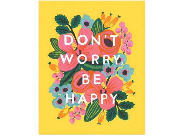 Acheter Affiche 20 x 25 cm - Don't worry, be happy - 28,99€ en ligne sur La Petite Epicerie - Loisirs créatifs