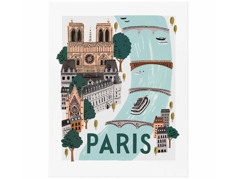 Acheter Affiche 20 x 25 cm - Paris - 28,49€ en ligne sur La Petite Epicerie - 100% Loisirs créatifs