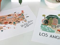 Acheter Affiche 20 x 25 cm - Carte des Etats-Unis - 28,99€ en ligne sur La Petite Epicerie - Loisirs créatifs