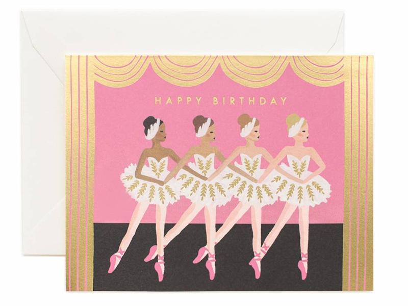 Acheter Carte d'anniversaire - Danseuses de ballet - 4,99€ en ligne sur La Petite Epicerie - 100% Loisirs créatifs