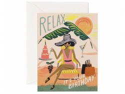Carte d'anniversaire - Relax
