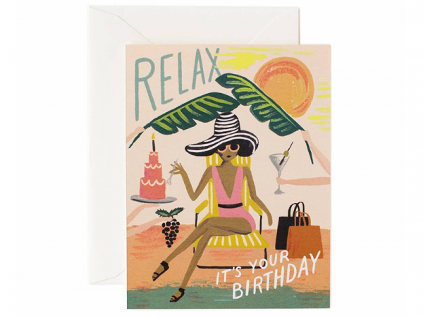 Acheter Carte d'anniversaire - Relax - 4,99€ en ligne sur La Petite Epicerie - 100% Loisirs créatifs