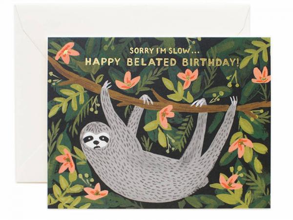 Acheter Carte d'anniversaire - Paresseux - 4,99€ en ligne sur La Petite Epicerie - Loisirs créatifs