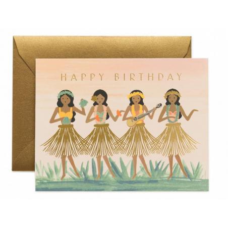 Acheter Carte d'anniversaire - Danseuses de hula - 4,99€ en ligne sur La Petite Epicerie - 100% Loisirs créatifs