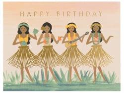 Acheter Carte d'anniversaire - Danseuses de hula - 4,99€ en ligne sur La Petite Epicerie - Loisirs créatifs