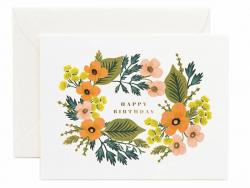Acheter Carte d'anniversaire - Couronne florale - 4,99€ en ligne sur La Petite Epicerie - Loisirs créatifs