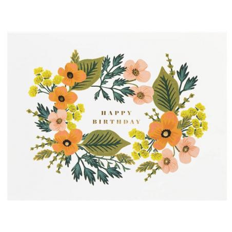 Acheter Carte d'anniversaire - Couronne florale - 4,99€ en ligne sur La Petite Epicerie - 100% Loisirs créatifs