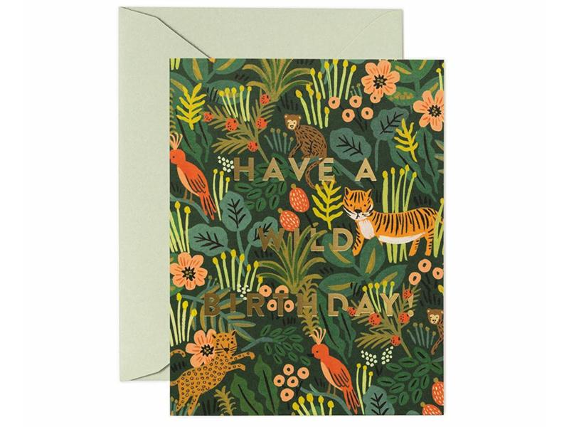 Acheter Carte d'anniversaire - Animaux sauvages - 4,99€ en ligne sur La Petite Epicerie - 100% Loisirs créatifs