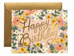 Carte d'anniversaire - Roses