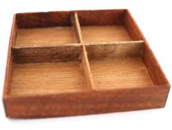 Acheter Plateau 4 compartiments en bambou - 4,49€ en ligne sur La Petite Epicerie - 100% Loisirs créatifs