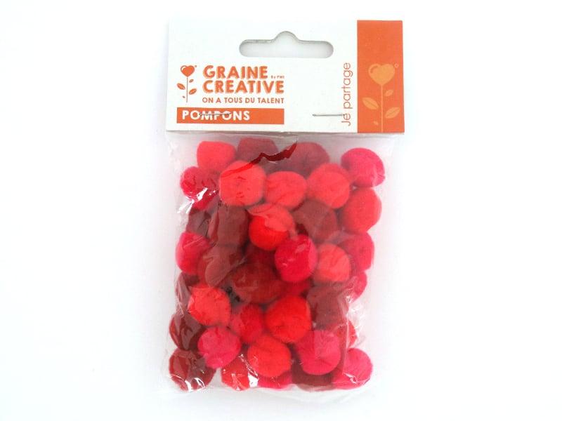 Acheter Pompons dégradé de rouge acrylique - 15mm - 1,49€ en ligne sur La Petite Epicerie - 100% Loisirs créatifs