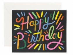 Acheter Carte d'anniversaire - Feu d'artifice - 4,99€ en ligne sur La Petite Epicerie - Loisirs créatifs