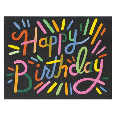 Acheter Carte d'anniversaire - Feu d'artifice - 4,99€ en ligne sur La Petite Epicerie - 100% Loisirs créatifs