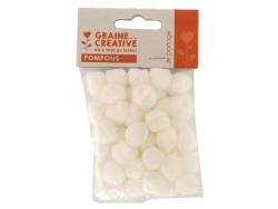 Pompons blancs acrylique -...