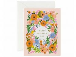 Acheter Carte Fêtes des mères - Couronne de fleurs - 4,99€ en ligne sur La Petite Epicerie - 100% Loisirs créatifs