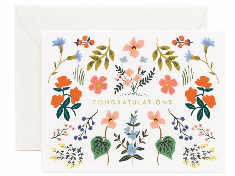 Acheter Carte de Félicitations - Fleurie - 4,99€ en ligne sur La Petite Epicerie - 100% Loisirs créatifs