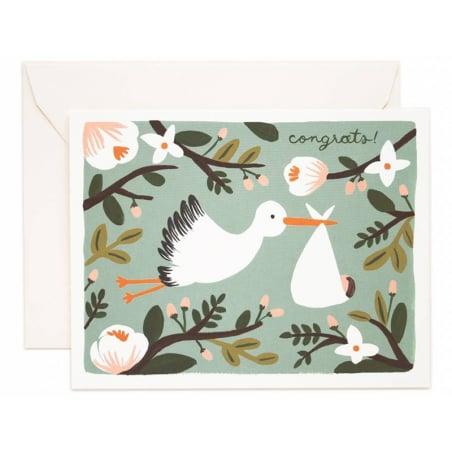 Acheter Carte de Naissance - Cigogne - 4,99€ en ligne sur La Petite Epicerie - 100% Loisirs créatifs