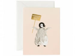 Carte de Naissance - Pingouin