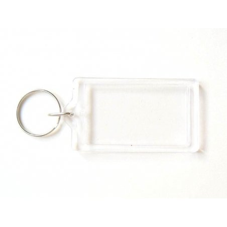 Support porte clés transparent - rectangle