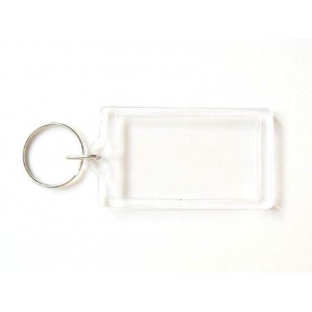 Transparent key fob - rectangle