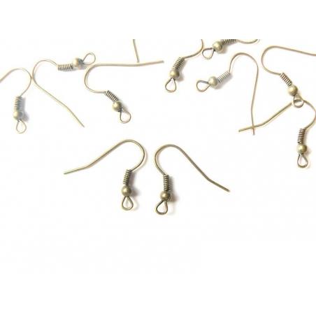 Acheter 10 paires de boucles d'oreilles couleur bronze - 2,29€ en ligne sur La Petite Epicerie - Loisirs créatifs