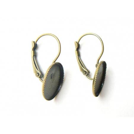 Acheter 1 paire de boucles d'oreilles pour cabochons ronds - couleur bronze - 2,79€ en ligne sur La Petite Epicerie - Loisir...