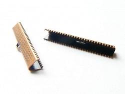 Fermoir griffe pour biais de tissu 35 mm - cuivre